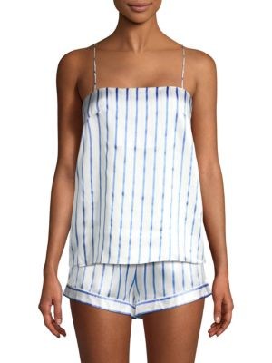 GINIA Striped Silk Camisole
