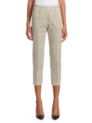 Audrey Side-Zip Check Pants
