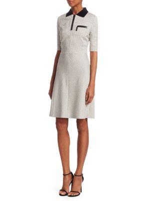 Grid-Check Polo Dress