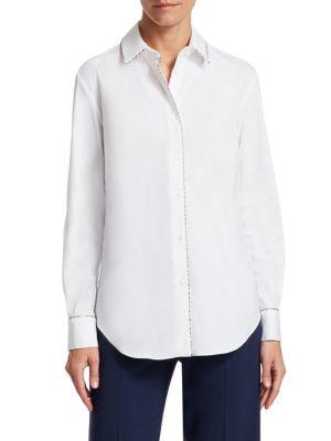 Beaded Button-Down Shirt