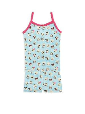 Toddler's, Little Girl's & Girl's Emoji Pajama Set