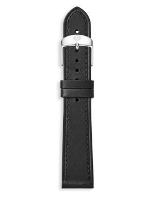 MICHELE WATCHES Thin Leather Watch Strap/18MM