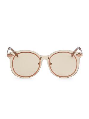 51MM Mrs Persimmon Round Sunglasses