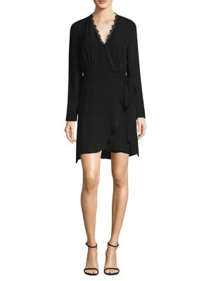 Trino Lace-Trim Wrap Dress