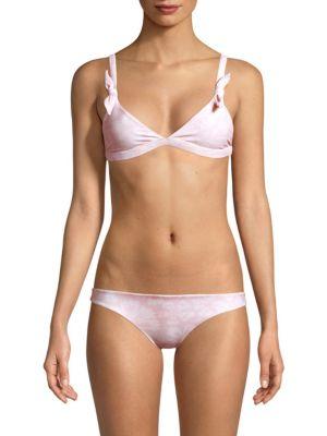 MIKOH SWIMWEAR Bali Triangle Bikini Top