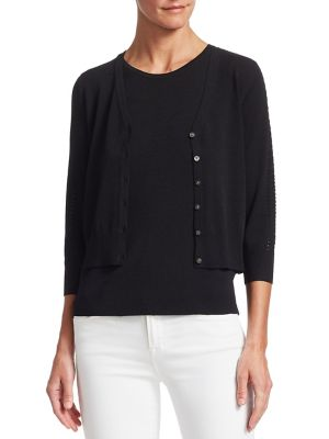 COLLECTION V-Neck Pointelle Cardigan
