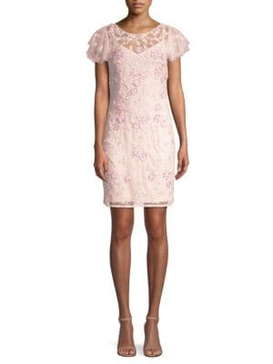 Beaded Lace Cocktail Dress