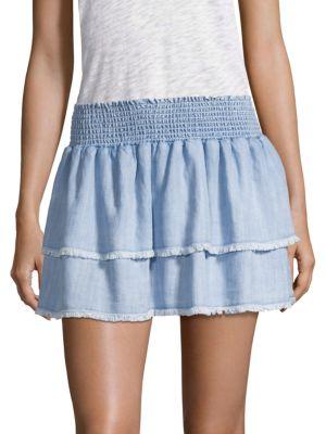 BELLA DAHL   Smocked Tiered Skirt   Goxip
