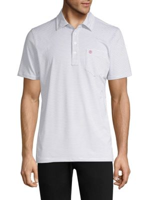 G/FORE Striped Pocket Polo Shirt