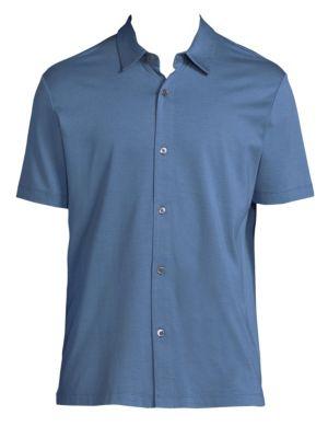 Silk Blend Button-Down Shirt