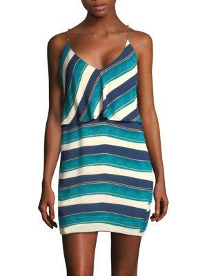 VIX BY PAULA HERMANNY San Andres Striped Mini Dress