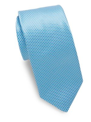 Blue Polkadot Tie