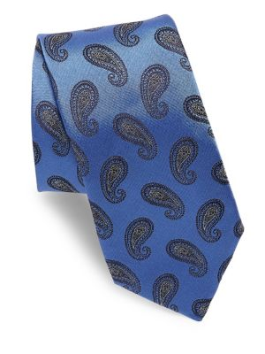 Dark Purple Paisley Tie