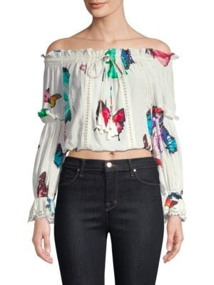 Off-The-Shoulder Butterfly Top