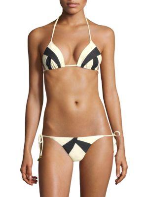 VIX BY PAULA HERMANNY Two-Tone Triangle Bikini Top