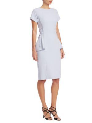 Crepe Peplum Dress