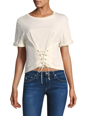 LIZETH LACE-UP TEE