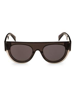 Smoke Flat Top Round Sunglasses