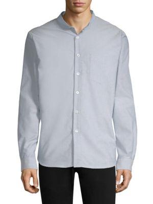 Collarless Button-Down Sportshirt