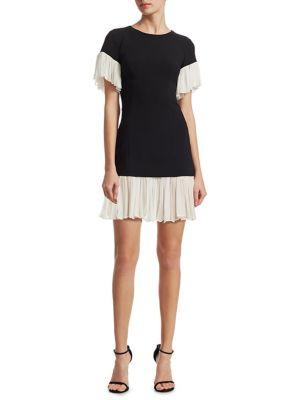 Rosaria Ruffle Hem Mini Dress by Cinq à Sept