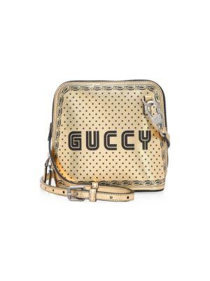 Guccy Print Mini Shoulder Bag inSEGA® Font
