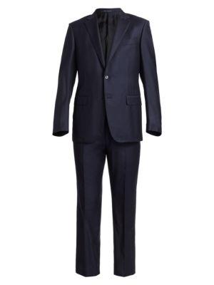 Regular-Fit Stripe Wool Suit