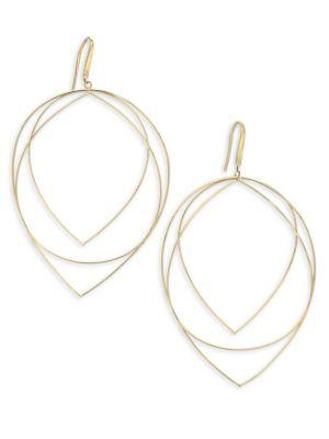 Wire Large New Three-Tier Teardrop Earrings