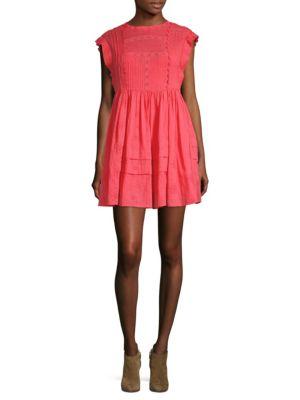 Nobody Like You Embroidery Mini Dress