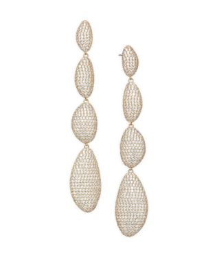 Cascading Pebble Drop Earrings