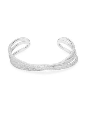 Three Lines Crystal Cuff