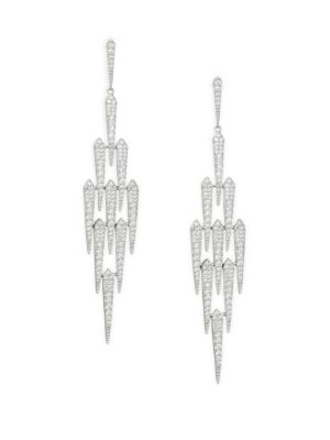 Crystal Shard Chandelier Earrings