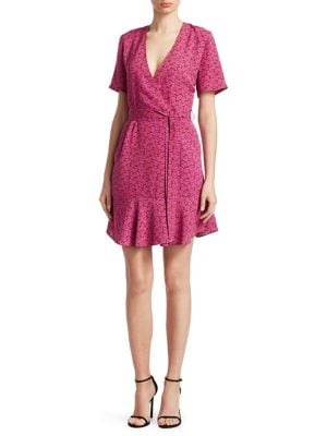 Micah Printed Wrap Dress
