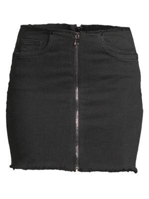 Zipper Mini Skirt