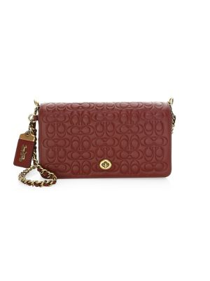 Signature Embossed Leather Crossbody Bag
