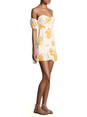 Lemonade Off-The-Shoulder Flounce Dress