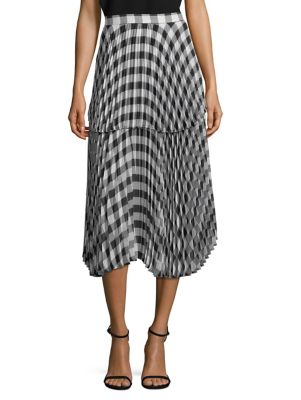 DELFI COLLECTIVE Reese Pleated Plaid Skirt