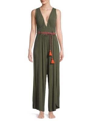 ONDADEMAR Deep V-Neck Jumpsuit