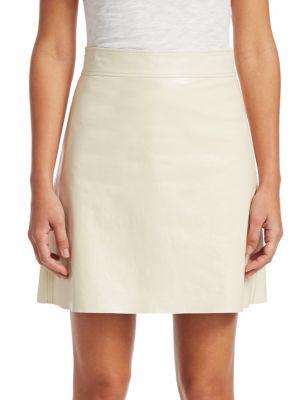 Crinkle Patent Mini Skirt