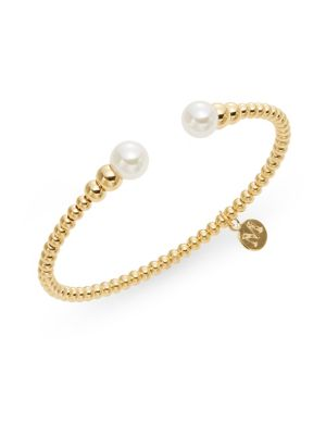 8MM Pearl-Capped Beaded Bracelet