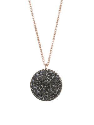The Icon Black Diamond & 14K Yellow Gold Pendant Necklace