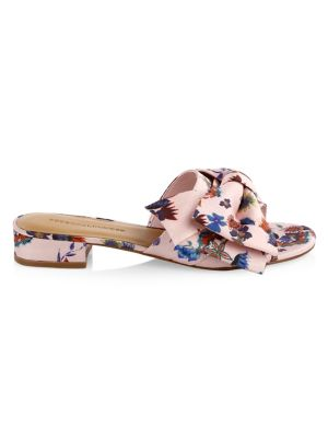 Calista Floral Bow Slides