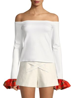 Kirin Off-The-Shoulder Bell-Sleeve Top