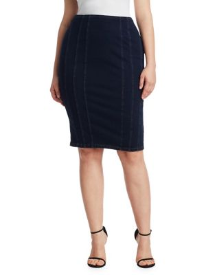 Canada Jersey Denim Pencil Skirt