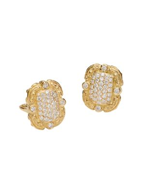 Coskey's Column 18K Yellow Gold & Diamond Earrings