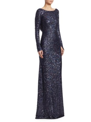 Irredescent Sequined Gown