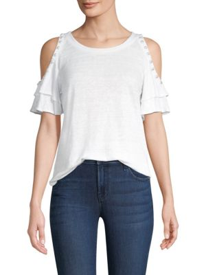 Luna Pearls Cold-Shoulder Top