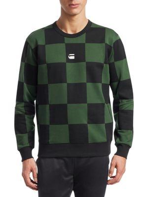 Checkerboard-Print Sweatshirt