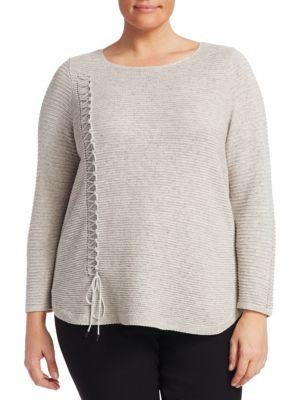 Plus Braided Up Sweater