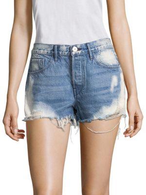 W2 Mason Bleached Denim Shorts