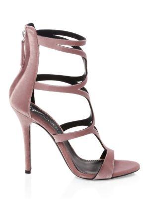 Alien Velvet Strap Sandals